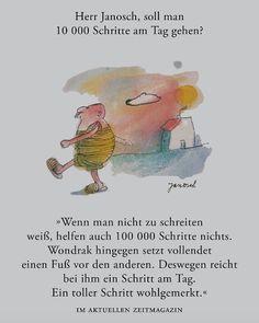 Herr #Janosch, soll man am Tag 10.000 Schritte gehen?