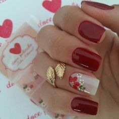 Flower Nail Designs, Gel Nail Designs, Magic Nails, Nail Technician, Nail Decorations, Flower Nails, Nail Arts, Manicure And Pedicure, Coffin Nails