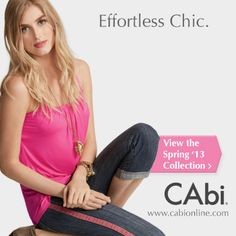 Never again stare at your closet in frustration wondering what to wear. Every CAbi Collection is designed to pair back effortlessly with dozens of other items in the Collection and in your closet! Be effortlessly chic – View the Spring '13 Collection at http://www.cabionline.com/ collection