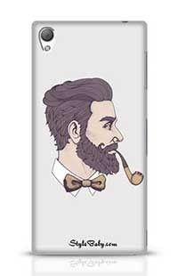 Bearded Man With Pipe Side View Sony Xperia Z3 Phone Case
