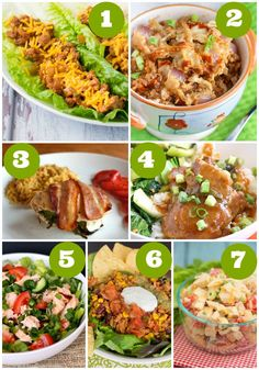 This week's menu of easy dinner recipes features mostly low-carb choices like thai salmon salad, bacon-wrapped stuffed chicken, and easy taco salad.