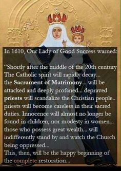 Our Lady of Good Success, pray for us!