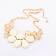 $6.25 Elegant Rhinestone and Acrylic Embellished Waterdrop Necklace For Women