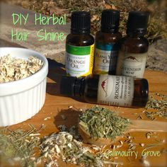 Gallimaufry Grove: DIY Herbal Hair Shine Mist