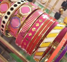 Kate Spade bangles...love the hidden quotes on the inside :-)