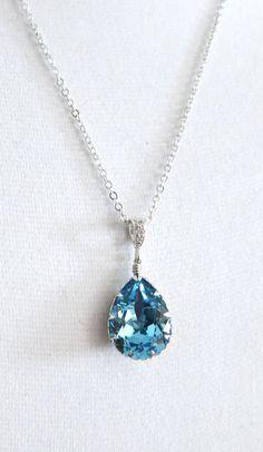 Sammy Crystal Teardrop Necklace Bridesmaid.