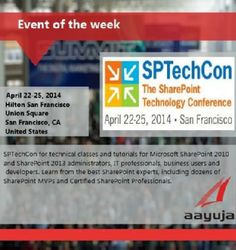 Event of the week! SPTechCon Aprill 22-25, San Francisco