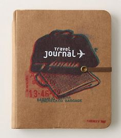 Anthropologie travel journal. #journal #traveler