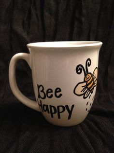 Hand decorated mugs by BubilooCrafts on Etsy- $7 - check out my roommate's etsy!