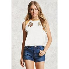 Forever21 High-Waisted Denim Shorts ($20) ❤ liked on Polyvore featuring shorts, denim, high-waisted shorts, short jean shorts, forever 21 shorts, high-waisted jean shorts and forever 21