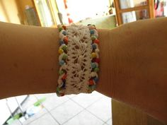 Hairpin Lace with beads; Tutorial