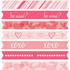 Printable cupcake flags for Valentine's Day!