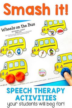 Speech Therapy Activities Your Kids will Beg For: Smash It!