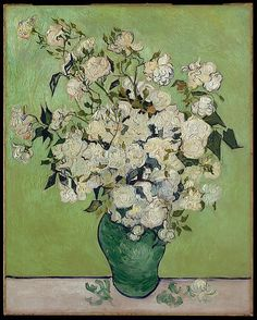 Roses, 1890, by Vincent van Gogh (Dutch, 1853–1890). Happy Birthday to Vincent van Gogh, born on this day (March 30) in 1853. Over the course of his decade-long career, he produced nearly 900 paintings and more than 1,100 works on paper. Click for more about the artist, and to view a slideshow of his works in the Heilbrunn Timeline of Art History | The Metropolitan Museum of Art, NY