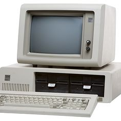 Äldre dator med inbyggd skärm IBM 5150