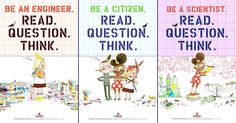 Five downloadable posters featuring beloved Mighty Girl characters Rosie Revere and Ada Twist celebrating science, reading, and critical thinking!