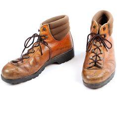 Vintage RAICHLE Swiss Mountaineering Boots . Brown Leather Hiking Survivor Footwear Men Unisex . Eur 40 , Us mens 7.5 , Us women 9.5 ,  Uk 7