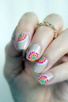 Neon polka dots nails on silver – 30 Adorable Polka Dot Nail Designs ♥ ♥ Dot Nail Designs, Flower Nail Designs, Pretty Nail Designs, Colorful Nail Designs, Nail Designs Spring, Simple Nail Designs, Nails Design, Spring Design, Dot Nail Art