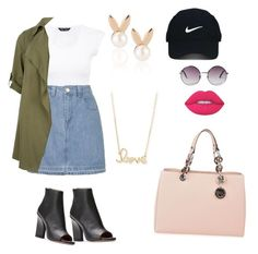 """Untitled #8"" by udggv24 on Polyvore featuring Topshop, MICHAEL Michael Kors, Lime Crime, Monki, Nike Golf, Aamaya by priyanka and Sydney Evan"