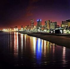 Night time in Durban - South Africa