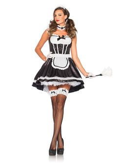 this halloween get yourself a maid with this costume by leg avenue comes with the - Sundrop Halloween Costume