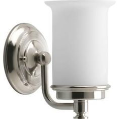 Progress Lighting Currents Collection 1-Light Brushed Nickel Vanity Fixture-P3059-09DI at The Home Depot