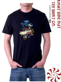 Feathers Wolf Head Tee Shirt by RightSideOutShirts on Etsy