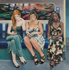 """EwTube"": Ewing Paddock Paints Portraits of People on the London Underground – On Art and Aesthetics Reading Art, Woman Reading, British Paints, People Reading, Painting People, London Underground, Portraits, People Art, Thalia"