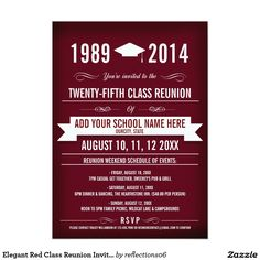 Poster Style Purple And Yellow Class Reunion Invitation Class