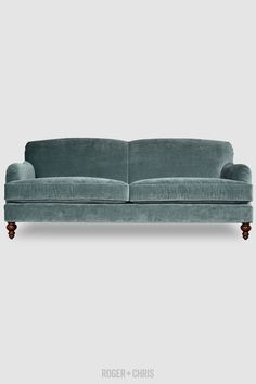 Tight-Back English Roll-Arm Sofas, Armchairs | Basel from Roger + Chris ****** CAN'T decide between this color and navy blue!!