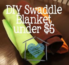Baby project, sewing, DIY Baby Gift - Swaddle Blankets ~ DelightCreativeHome