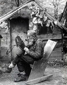 images of hermits in the Adirondacks | Adirondack Attic: vintage radio chat with the Hermit of Cold River ...