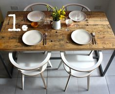 Stand out; sit down - Or 'Five Reasons to buy a Reclaimed Wood Dining Table' on our blog NOW! www.salvationfurniture.com #interiors #reclaimedwood #kitchen #UK