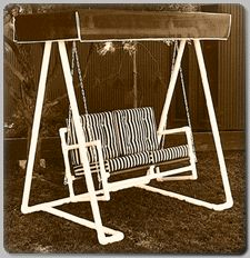 Buy Woodworking Project Paper Plan To Build PVC Lawn Swing, Plan No. 678 Atu2026