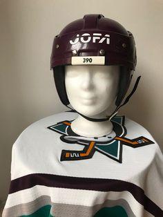 Eggplant Jofa 390 helmet Mighty Ducks Ducks, Eggplant, Riding Helmets, Hats, Hat, Eggplants, Hipster Hat