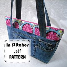 Lauras Zippered Tote Pattern By The Creative Thimble | Fashion Bags