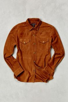 CPO Suede Western Shirt - Urban Outfitters
