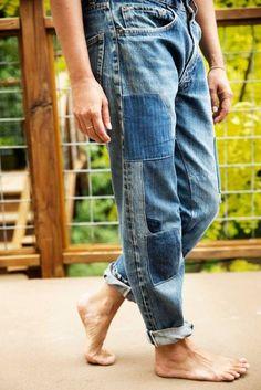 Patched Jeans, Levis Jeans, Men's Denim, Denim Shorts, Boho Hose, Jeans Recycling, Estilo Denim, All Jeans, Pegged Jeans