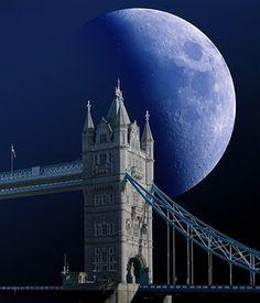 Tower Bridge, Londres, Luna, Zoom