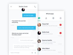 Whatsapp Re-Design by Faruk Akhan