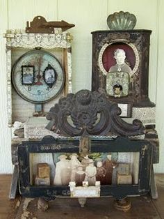small-stories-studio: Packing up and heading to Saratoga Springs! (assemblage art)