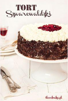 Tort Szwarcwaldzki (czarny las), najlepszy - przepis - I Love Bake Dessert Recipes, Desserts, Vanilla Cake, Cheesecake, Food And Drink, Sweets, Baking, Kitchen, Cake
