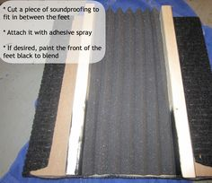 How to #DIY a Subwoofer Isolation Pad {SandpaperAndGlue.com}
