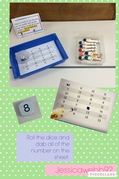 Take it in turns to roll the dice and dab all of your number on the paper. Year 1 Maths, Early Years Maths, Childcare Activities, Phonics Activities, Math Challenge, Challenge Ideas, Continuous Provision Eyfs, Maths Area, Learning Numbers