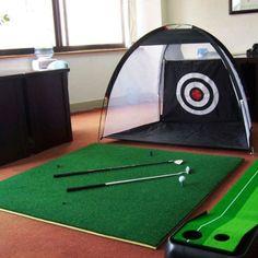 3M Golf Practice Driving Hitting Training Net Range Target Pad for Indoor gohsy
