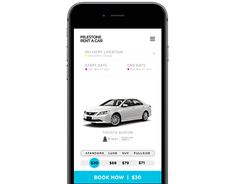 "Check out new work on my @Behance portfolio: ""Milestone Rent a car app""…"