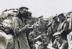 Officers of the Black Watch in the trenches, c. 1914