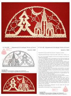 Klöppeln, Klöppelbrief, Erzgebirge, Annaberg-Buchholz, Volkskunst, Klöppelmädel Design Bobbin Lace Patterns, Crochet Patterns, Hobbies And Crafts, Diy And Crafts, Bruges Lace, Lace Art, Lacemaking, Christmas Themes, Christmas Design