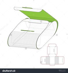 Cosmetics Retail Box With Die Line Template Stock Vector Illustration 316704485 : Shutterstock