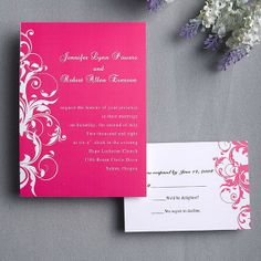 Magenta wedding invitations set  Classic by ElegantWeddingInvite, $1.08